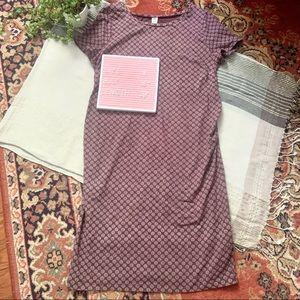 Old Navy Polka Dot Maternity T Shirt Dress
